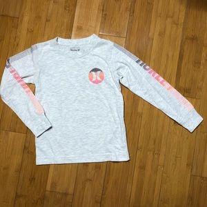 Hurley Kids Line Long Sleeve Tee grey S 4-5